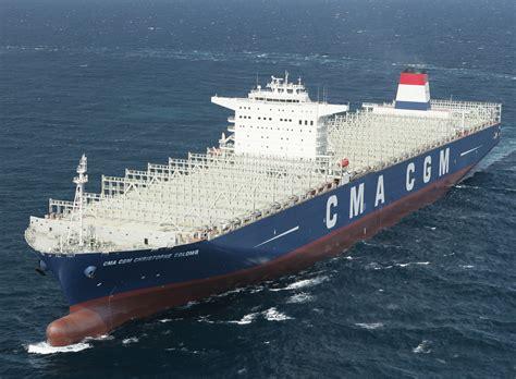 le plus grand porte conteneur le plus gros porte conteneurs fran 231 ais entre en service mer et marine