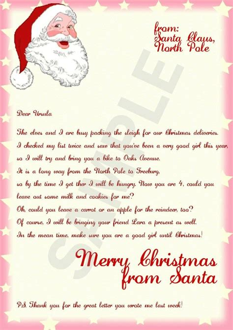 christmas letter from santa official letters from santa sample letter template 20847 | letter from santa template cyberuse intended for official letters from santa