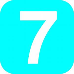 Number 7 Light-blue Clip Art at Clker.com - vector clip ...