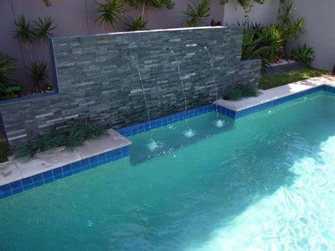 best pool waterline tile stunning inground pool waterfall kits with travertine tile