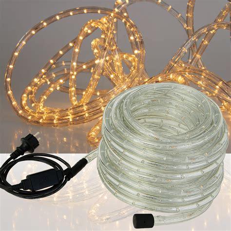 led rope light white blue string outdoor lighting 5m