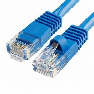Cat5e Patch Cable Blue 350mhz Rj45  U2013 5 Ft