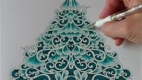 color  christmas tree tutorial  prismacolor
