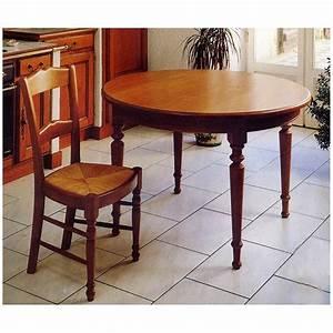 Table Ronde En Chene : petite table ronde en ch ne meubles de normandie ~ Teatrodelosmanantiales.com Idées de Décoration