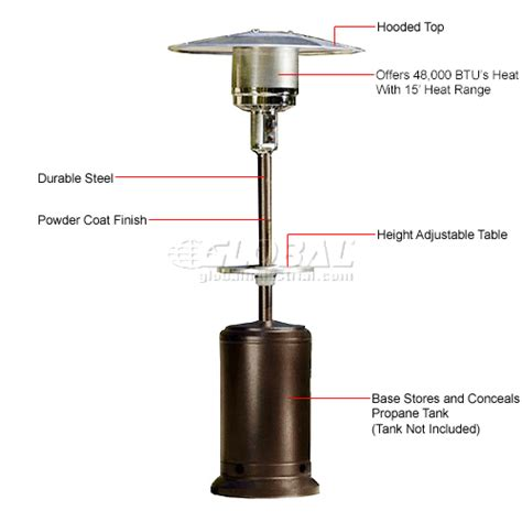 heaters patio hiland patio heater hlds01 cgt propane