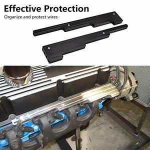 Black Spark Plug Wire Loom Holders Separator Kit Fits