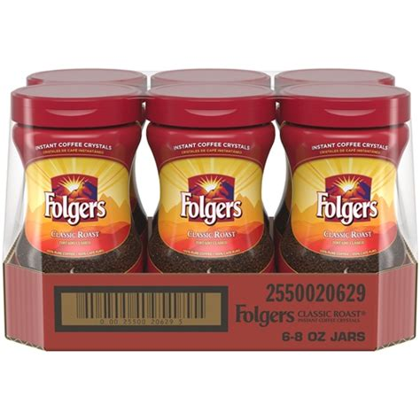 Make your day instantly better with folgers® instant coffee crystals in any form. Folgers Classic Roast Instant Coffee Crystals - 8 Oz.