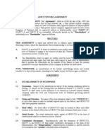 letter  intent joint venture kronos joint venture