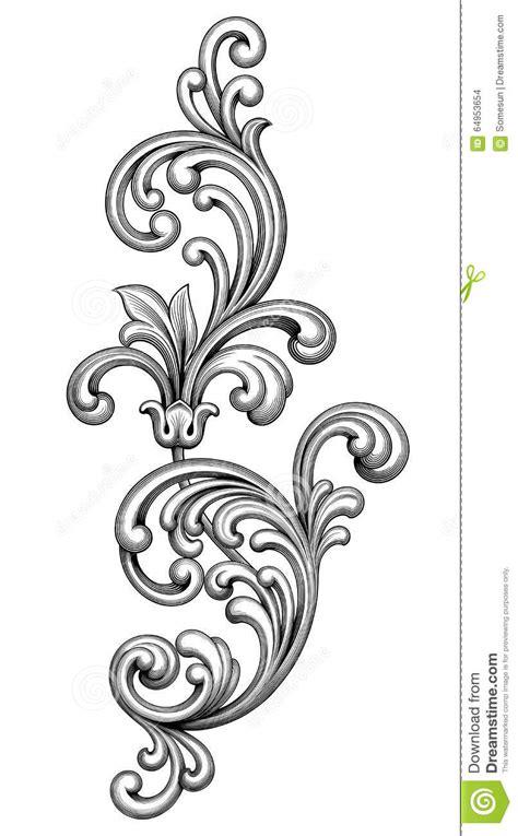 Kleurplaat Acanthus by Tatouage De Mod 232 Le Grav 233 Par Rouleau Victorien Baroque D