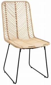 Chaise Rotin Noir : chaise en rotin et m tal noir naturel ~ Teatrodelosmanantiales.com Idées de Décoration