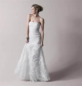 strapless ivory drop waist bcbg wedding dress onewedcom With bcbg wedding dresses