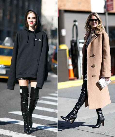 How to Wear High Boots Streetstyle from New York Fashion Week Fall/Winter 2016-2017 | Cinefog