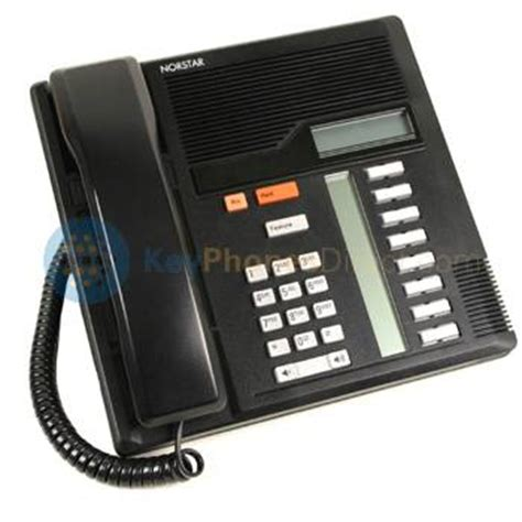 nortel phones mb ref black  button display phone ntb