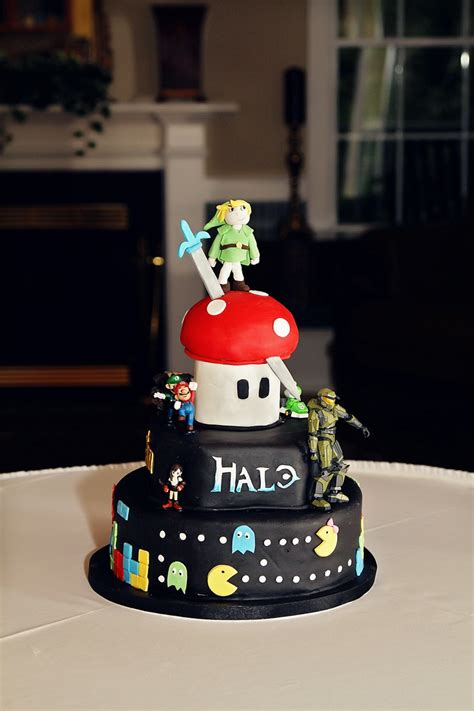 video game cakes images  pinterest conch