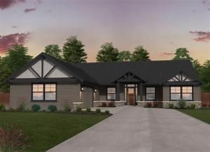 Double B Ranch | Single Story Lodge House Plan by Mark Stewart