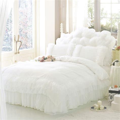 luxury twin comforter sets luxury white princess lace bedding set king size bedding for wedding