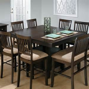 dining room set with bench jofran bakers cherry counter height table with 1 bench and 6 chairs at hayneedle