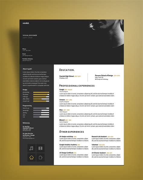 Curriculum Vitae Design Template by Free Curriculum Vitae Cv Design Template For Designers