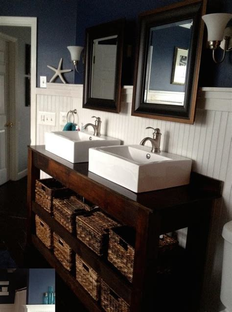 ana white spa slatted double vanity diy projects