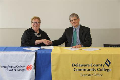 pennsylvania college of and design college signs transfer agreement with pennsylvania college
