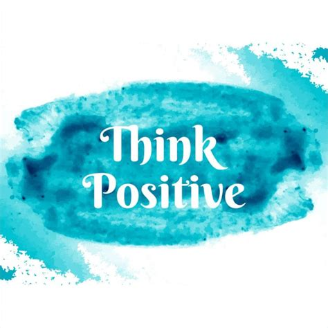 think color think positive blue watercolor vector free