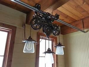 Hotdabble  Barn Trolley Light Fixtures Hanging  Wiring
