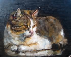 cat painting painting cat by woodland mel on deviantart