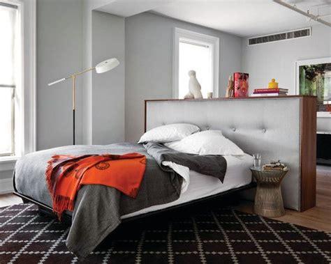 Bedroom, Excellent Loft Bedroom Ideas Gray Headboard