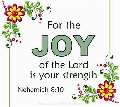 Bible Clipart Saying Verses Joy Strength Lord