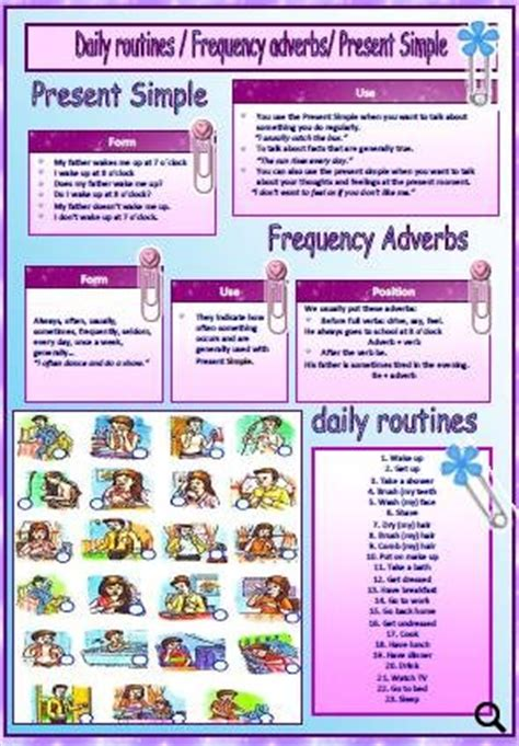 Daily Routines / Present Simple / Frequency Adverbs
