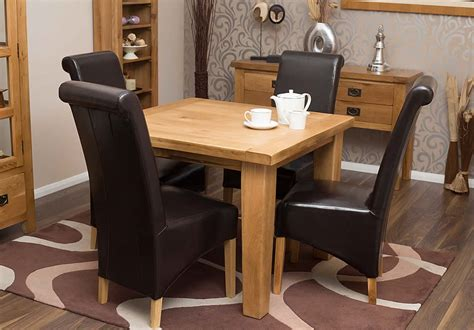 50 square oak dining table and chairs hshire