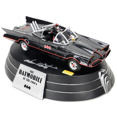 Original Batmobile Autographed By lot detail adam west and burt ward autographed porcelain