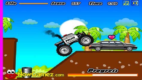 monster truck games videos for kids cool math games for kids police monster truck gameplay