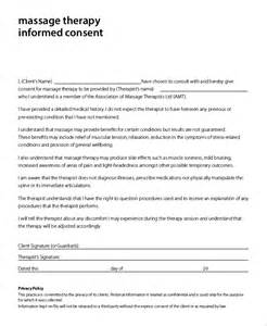 Massage Therapy Informed Consent Form