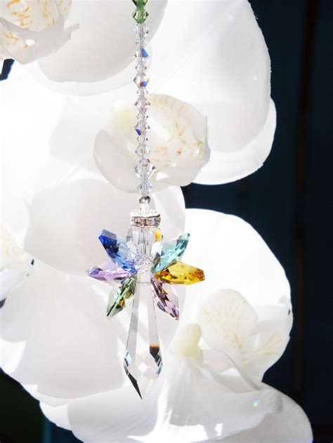 rainbow angel suncatcher swarovski crystal sun catcher