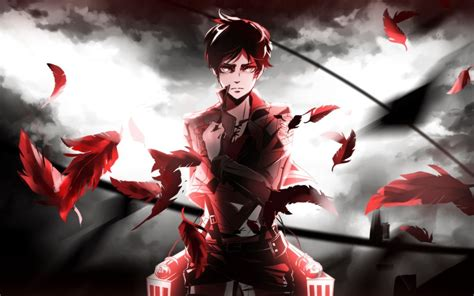 shingeki  kyojin eren jeager anime wallpapers hd