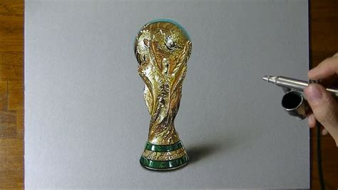 amazing  drawing  fifa world cup trophy youtube