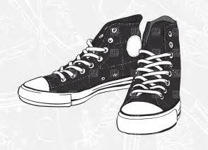 Pair of Tennis Shoes Clip Art Black and White