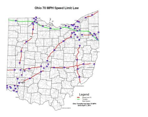 interstate speed limits  state map printable map