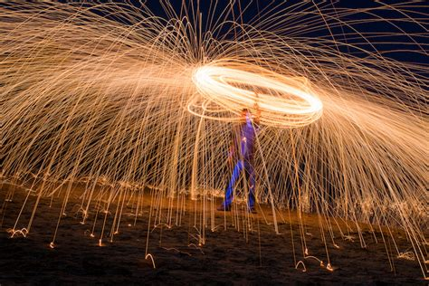 fire spinning  steel wool  special effects tutorial