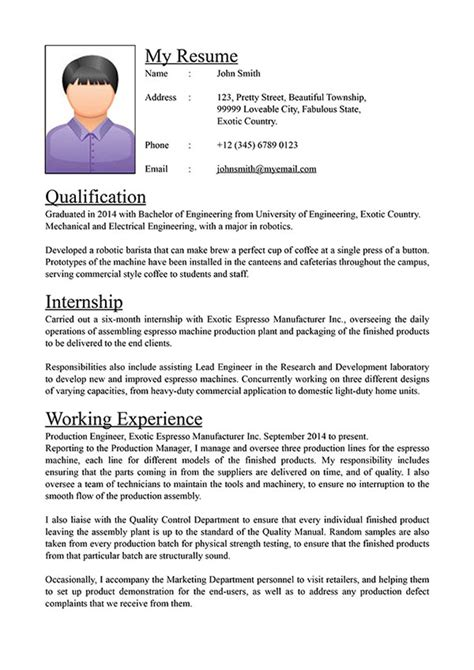 Standard Cv by Visual Secret To The Curriculum Vit 230 Cv