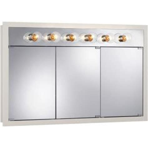home depot medicine cabinets with lights granville 48 in w x 30 in h x 4 75 in d surface mount