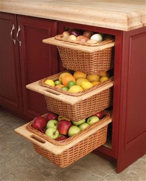 Kitchen Wicker Basket Cabinet  Kitchen Cabinetry