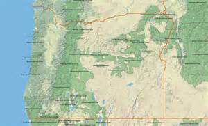 Oregon State Forest Map