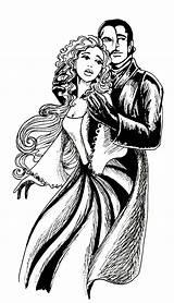 Phantom Opera Deviantart Christine Coloring Fan Drawings Musical Theatre Night Broadway sketch template