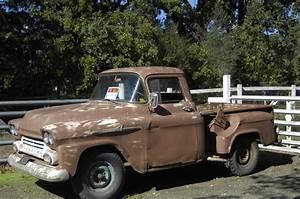 1958 Apache 3100 Stepside Pickup Truck 6 Cyl Brown Manual