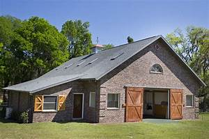 stable style fox meadow farm With brick horse barns