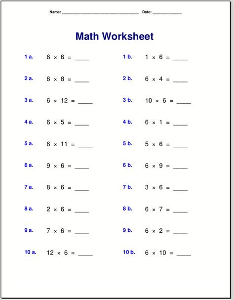 printable  times table worksheets activity shelter