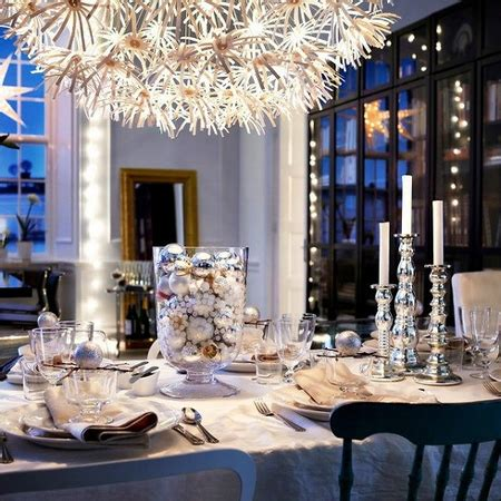 silver table decorations home dzine home decor decorate the christmas dining table