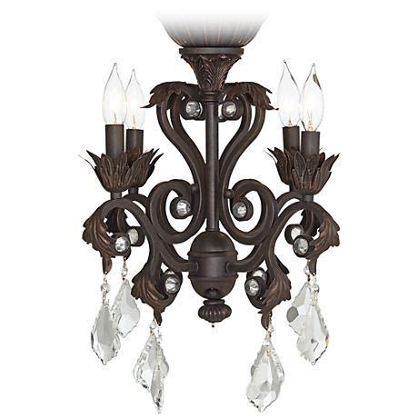 Chandelier Lighting Kit by 4 Light Rubbed Bronze Chandelier Ceiling Fan Light Kit